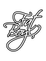 kontur tattoo fat boy spruch mann fett dick clipart comic cartoon lustig training abnehmen ungesund diät essen hunger lecker fressen heißhunger rund groß