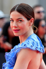 "Cast member Michelle Monaghan poses during a photocall for the world premiere of ""Mission: Impossible - Fallout"" in Paris"