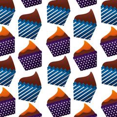sweet cupcake icon pattern
