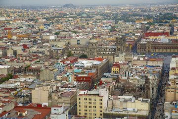 Aerial view of the Mexico City