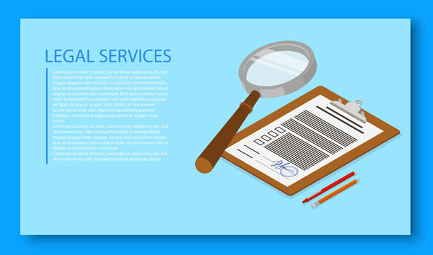 Legal services landing page template.