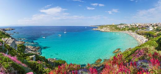 Rena Bianca beach, north Sardinia island, Italy