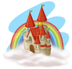 A Fairytale Castle and Rainbow