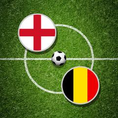 Fussballspiel England gegen Belgien