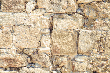 old stone wall close-up