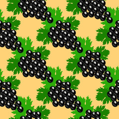 Bunch of grapes. Seamless pattern.