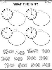 clock face educational game for children