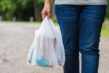 Holding Plastic Bags