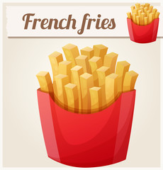 French fries. Detailed vector icon