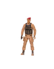 Soldier figure on a white background