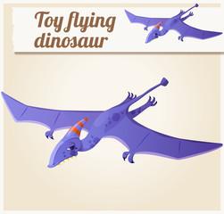 Toy flying dinosaur 5. Cartoon vector illustration