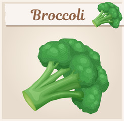 Broccoli vegetable icon. Cartoon vector illustration. Series of food and drink and ingredients for cooking