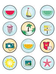 """original, creative, unusual and bright icon """"colorful summer"""""""