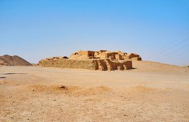 The ruins of Zoroastrian ritual buildings, Yazd, Iran