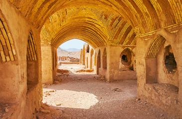In ancient khaiele Zoroastrian shrine, Yazd, Iran