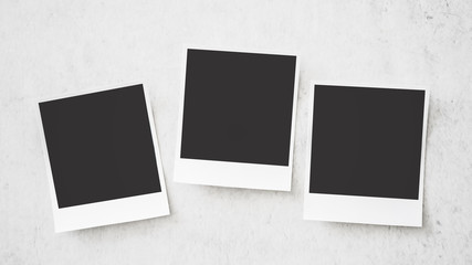 Square photo frame on white background
