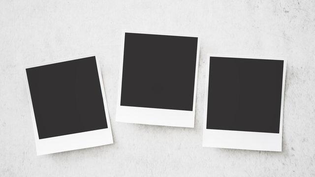 Square photo frame on white background