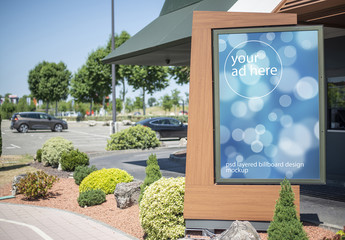 Advertising Kiosk Billboard Mockup