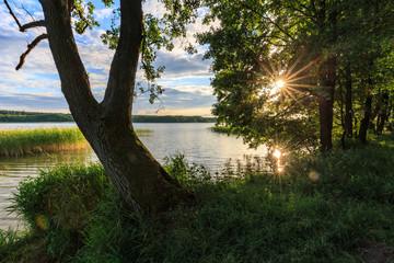 Sonnenuntergang in den Masuren, Polen