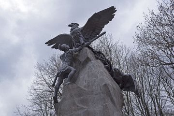 Monument to the defenders of Smolensk in the Patriotic War of 1812. Russia.
