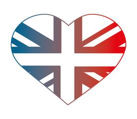 united kigndom flag in heart