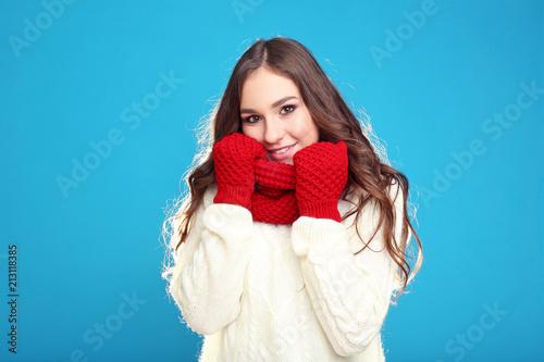 d8ccfa8f0a Beautiful young girl in sweater