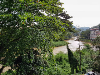 View of the river Mahaweli Ganga in Kandy. The central part of Sri Lanka