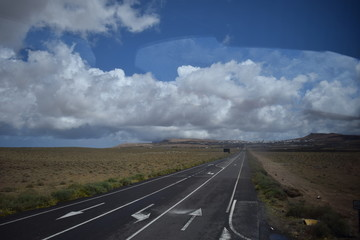 Straße Wolken Landschaft