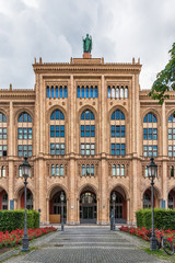 Munich, Germany June 09, 2018: The Museum Five Continents (German: Museum Fünf Kontinente) in Munich, Germany is a museum for Non-European artworks and objects of cultural value.