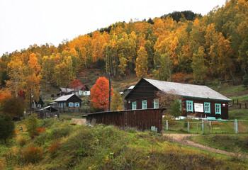 View of Port-Baikal settlement. Irkutsk oblast. Russian