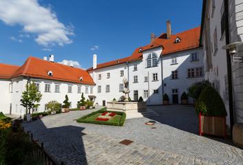 Inner courtyard of the Klosterneuburg Monastery. Lower Austria, Europe.