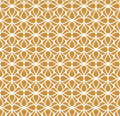Classic Gold Art Deco Seamless Pattern. Geometric Stylish Texture. Abstract Retro Vector Texture.