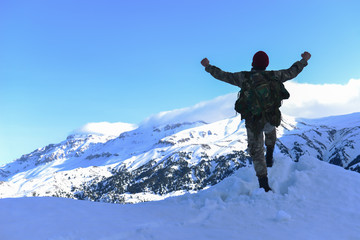 Peak success and happiness for the soldier