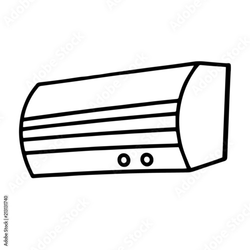 u0026quot air conditioner cartoon illustration isolated on white