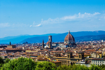 Beautiful view to Florence from the from the observation point
