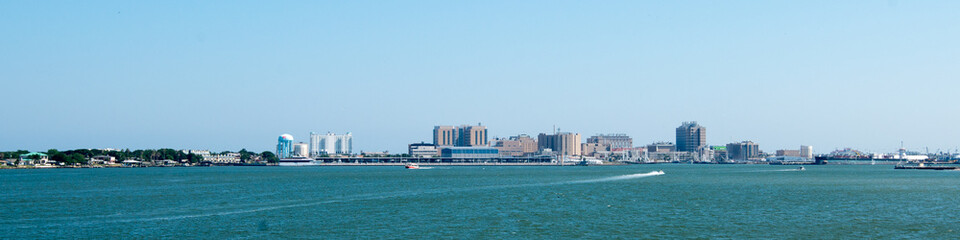 View of Galveston from Seawolf Park