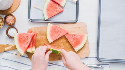 Watermelon with chocolate