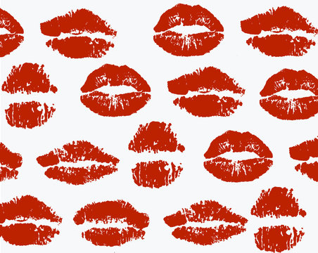 A deep red lipstick stain icon/clipart illustration.