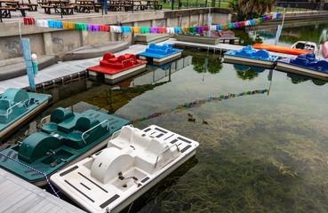 Paddle boat rental on lake - Hollywood, Florida, USA