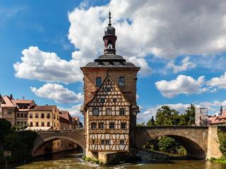 romantische bayerische Stadt Bamberg in Oberfranken mit romantischen Häusern