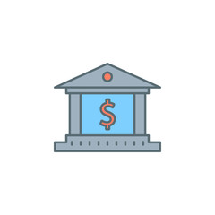 bank dusk style line icon. Element of banking icon for mobile concept and web apps. Dusk style bank icon can be used for web and mobile
