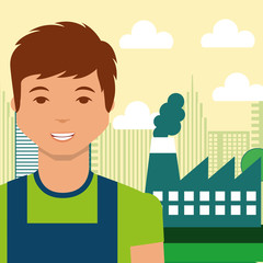 young man industry factory city energy alternative