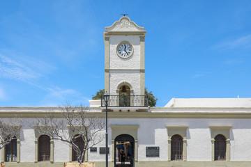 Clock Tower on City Buildings, Plaza Mijares, San Jose del Cabo, Mexico