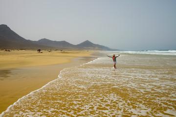 Beach Cofete on Fuerteventura, Spain.