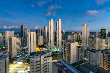Skyline Buildings in Boa Viagem Beach, Recife, Pernambuco, Brazil
