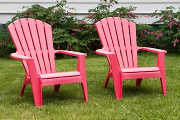 Pink lawn chair