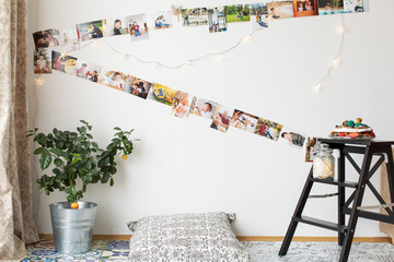 Indoor space decorated for a stylish birthay party