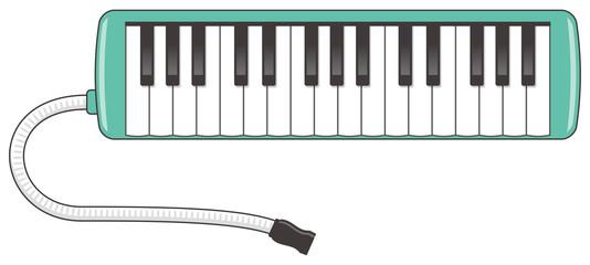 鍵盤ハーモニカのイメージイラスト
