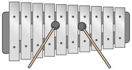 鉄琴のイメージイラスト