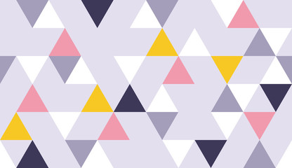 Geometric triangle pattern background with Scandinavian abstract color art and Swiss geometry vector prints